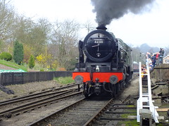 Royal Scot . (steven.barker57) Tags: 28 28th march 2017 41600 royal scot preserved steam locomotive loco train heritage railway special lms british railways rail passenger nymr grosmont uk england green mk1 carriages sun sunny