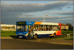 34648, Minnis Bay (Jason 87030) Tags: 34648 dennis dart slf pointer gx54dwy bus minnisbay birchington kent sky evening clouds 34 april 2017 front light lighting sony capture