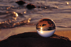 Crystal ball and landscape #2 (daniel0027) Tags: crystalball seascape sea earlymorning sunrise jeongdongjin rocks sunlight