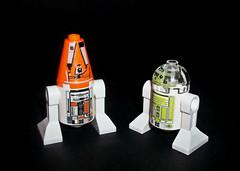 R4-A22 & R3-T7 (by BX Customs) (OB1 KnoB) Tags: lego star wars bx custom customs bxcustoms astromech contest reward award r4a22 r3t7
