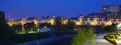 Madrid Río (jasesac) Tags: madrid río puente pasarela espiral perrault toledo noche luz azul