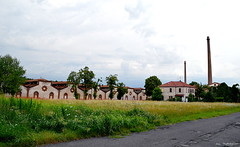 ° Ghost town (° Ivan) Tags: crespi dadda adda river silvio capriate san gervasio bergamo lombardia lombardy italia italy unesco mill town village ghost ghostly unearthly ideal city mason masonic positivism storm sky clouds field farmland silk factory 800 illuminism towers house landscape scape scary eight stars summer