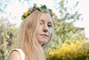 A crown of spring (Siouz) Tags: selfie self portrait autoportrait blonde blond selfportrait blondhair blondine crown flowers flowercrown floralcrown floral printemps spring garden smile me sunlight light outdoors people woman girl younggirl lady hair longhair beige