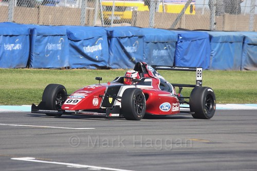 Jamie Sharp in British F4 Race One during the BTCC Weekend at Donington Park 2017: Saturday, 15th April