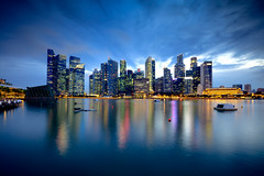 Singapore City Skyline at Dusk (Patrick Foto ;)) Tags: 2017 buildingexterior downtowndistrict famousplace financialdistrict largegroupofobjects marinabay moodysky photography riverbank scenics singaporecity southeastasia tranquilscene traveldestinations urbanskyline architecture asia bank business city cityscape glowing horizontal illuminated marina modern night nightlife outdoors panoramic promenade reflection singapore sky skyscraper sun sunlight tourism travel twilight waterfront strattonstrawless england unitedkingdom gb