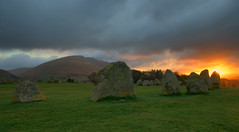 Castlerigg Stone Circle Sunrise (Andy Watson1) Tags: castlerigg stone circle keswick threlkeld blencathra lake district national park cumbria lakeland england english uk united kingdom great britain british holiday vacation trip travel sunrise light shadow morning ancient mountain canon 70d sigma sun cloud grass green sky early landscape view scenery scenic countryside april spring easter blue nature standing stones moody