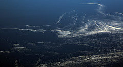 2017_04_10_lhr-ewr_027 (dsearls) Tags: 20170410 aerial windowseat windowshot united unitedairlines ual ua17 lhrewr ocean blue white ice icebergs patterns aviation flying longhaul flight north newfoundland grandbanks