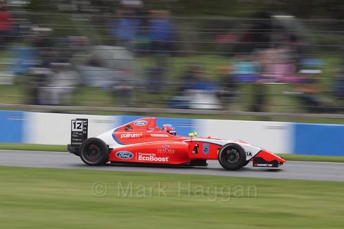 Ayrton Simmons in British Formula Four Race Three at the British Touring Car Championship 2017 at Donington Park