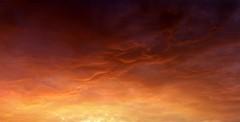 Fire in the sky - Du feu dans le ciel (Philippe Meisburger Photo) Tags: ciel sky cloud clouds nuage nuages red rouge fire feu coucher soleil atardecer sunset villageneuf hautrhin alsace grand est france europe philippe meisburger 2017 spring springtime printemps