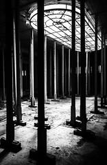 Coffin Light (think4d) Tags: abandonedplace blackwhite eisenach fürstenhof highcontrast hotel stakes window