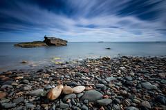 Dysart Long Exposure (Fifescoob) Tags: seascape coast fife dysart beach rock stone sea water tide scotland blue longexposure leefilters bigstopper landscape canon eos 5ds