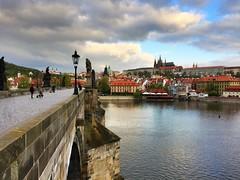 Sunrise in Prague - iPhone HDR (Jim Nix / Nomadic Pursuits) Tags: bridge landmark czechrepublic prague travel europe sunrise charlesbridge prohdr hdr iphone