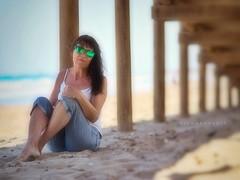 Memories of Gran Alacant (Artisticus Farticus) Tags: softfocus artfilter wideopen zuiko75mmf18 olympuspenf theboss laine spain losarenales carabassi portrait beach