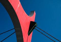 A bridge too far (The Green Album) Tags: bilbao bridge abstract city urban la salve red blue sunny contrast bold colours lines curves