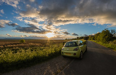 Chase The Sun (Rob Pitt) Tags: sunset burton graduated filter marshes wirral cheshire deeside clouds outdoor sky cloud vauxhall adam rob pitt photography uk england samyang 8mm fisheye