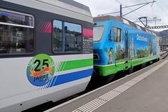 SOB - 25 Years Voralpen-Express (Kecko) Tags: 2017 kecko switzerland swiss suisse svizzera schweiz ostschweiz stgallen sg europe bahn bahnhof station eisenbahn railway railroad zug train sob vae südostbahn voralpenexpress swissphoto geotagged geo:lat=47422270 geo:lon=9367500