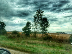 Through the car window 1 (sandy bohlken) Tags: 2016 day17 iowa september travel iphone ontheroad vacation throughthecarwindow rain