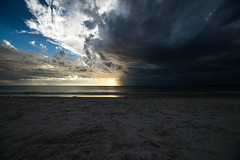 Stormy (Alicia Caruso) Tags: grangebeach southaustralia landscape beachscape beach adelaide sea seascape waves seagull sand nikon d7100 storm thunderstorm sky clouds blue grey ocean water wideangle