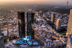 Mainhattan, Frankfurt (creati.vince) Tags: aerial architecture cityscape creativince frankfurt germany maintower mainhattan skyscraper sunset