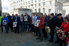 Some of the attendees (James O'Hanlon) Tags: international workers memorial day internationalworkersmemorialday service liverpool 2017 malcolmkennedy deputy mayor cllr malcolm kennedy wreath public pier head georges dock mersey tunnel