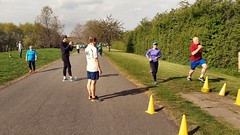 Bromley parkrun, 29 April 2017 (Paul-M-Wright) Tags: bromley parkrun south london uk 29 april 2017 norman park runners running joggers sunshine trees paths athletes finish line