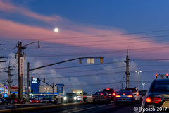 Moonrise (orgazmo) Tags: guam landscapes sky skyscapes outdoors tamuning marinedrive urbanlandscape moonrise moon twilight dusk bluehour nikon d500 tamron 16300mmf3563diiivcpzdmacro