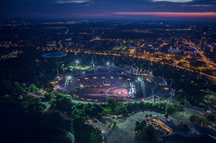 Bon Jovi live at Olympiastadion (Adam Haranghy) Tags: show park street bon trees music green skyline john munich mnchen photography concert jon fuji tour live aerial arena olympia fujifilm olympic grn stadion bume jovi bonjovi olympiapark olympiastadion x100