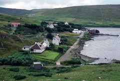 Voe village (1988) (Duncan+Gladys) Tags: uk scotland shetland voe
