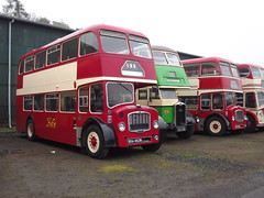 A pair of Bristols... (routemaster2345) Tags: bus museum vintage bristol day may scottish running fs albion ecw lathalmond venturer lodekka 2013 cx19 svbm