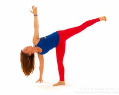 Half Moon- Ardha Chandrasana (intermediate pose) (Charles Wills) Tags: yoga processed yogaposes