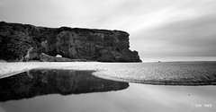 Panther Beach (universini) Tags: bw santacruz reflection beach reflections blackwhite highway1 davenport pantherbeach