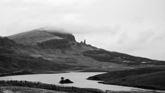 Old Man of Storr DSC_3765 (iloleo) Tags: scotland isleofskye scenic landscape highlands bw nikond7000 lake vista