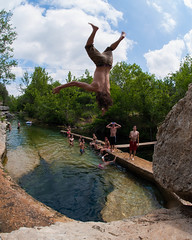 Jacob's Well (charliekitchen) Tags: nature swimming nikon san texas well 28 jacobs 16mm marcos wimberly d700