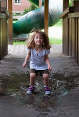 Splash! (nicpic) Tags: wet water puddle kid jump jumping toddler child play splash splashing