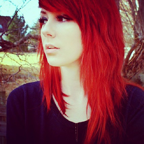 with tumblr hair Emo girls red