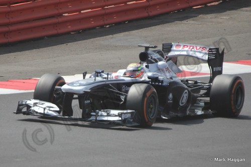 Pastor Maldonado at the Formula One Young Driver Testing at Silverstone, July 2013