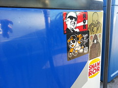 Gas Station Slaps! (Hot Rod(R)) Tags: street art kim stickers il ror jong combos slaps snaw stickerbomb fuxus fujikill kgatl