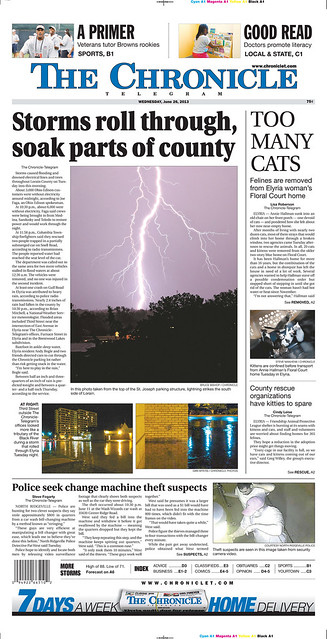 Front Page Photo | Bruce Bishop, The Chronicle Telegram (Elyria)