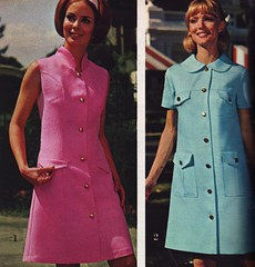 Spiegel 69 SS blue pink (jsbuttons) Tags: pink blue 1969 fashion vintage clothing mod 60s buttons spiegel clothes button catalog sixties