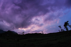 Dramatic Sunset (Jnarin) Tags: sunset horizontal landscape fulllength nopeople nilgiri masinagudi sigma15mmf28exdgdiagonalfisheye mudumalainationalpark canoneos1dmarkiii focusonforeground nilgirihills aroundbangalore bokkapuram niranjvaidyanathan