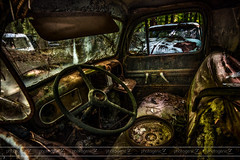 Unstuffed (photogenicZ) Tags: old white cars abandoned broken car ga nikon rust ruins decay interior ripped rusted torn trashed d800 sigma1224 oldcarcity