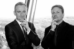Richard and Andreas (daviwie) Tags: vienna wien portrait austria österreich porträt research oesterreich skylounge raiffeisen richardmalzer andreasschiller