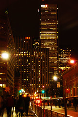 Toronto On, Canada (West Tribe) Tags: street city toronto ontario canada night skyscraper dark lights evening office bell moonlight blanche rue nuit