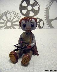 Daryl Dixon Robot (Sleepy Robot 13) Tags: cute robot diy handmade robots polymerclay fimo comicbook kawaii sculpey etsy urbanvinyl marvel sculpting smallbusiness sleepyrobot13 polymerclayurbanvinylsleepyrobot13etsysilvercraftcraftscraftingsculptingsculpturefigurinearthandmadecraftshowcutekawaiirobots