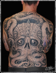 Octopus Tattoo (CClarkArt) Tags: tattoo tattoos blackgreytattoo texastattoo octopustattoo greywashtattoo texastattooartist tentacletattoo cclarkart chadclarktattoos