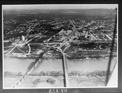 Murray Bridge from the air (State Records SA) Tags: blackandwhite photography australia historical southaustralia frankhurley srsa staterecords staterecordsofsouthaustralia staterecordsofsa