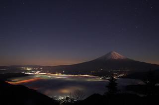 Mt. Fuji before dawn
