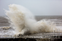 UK Weather. Aberystwyth battered again, as a huge swell causes havoc at high tide (www.atgof.co) Tags: storm weather wave gale aberystwyth prom massive promenade huge breaking tywydd rhodfa garw