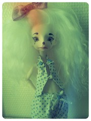 New outfit avalaible for body DC baby and appi body (Les crations du papillon) Tags: doll body clown hilary bloomer wig mohair bjd appi artiste yosd normalskin babybody clothesfordolls dollchteau flickrandroidapp:filter=flamingo