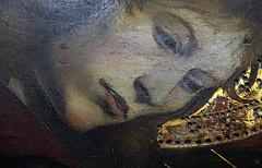 Piet of Villeneuve-ls-Avignon, detail with John's face, c. 1455 (profzucker) Tags: paris france painting french louvre renaissance pieta piet 1455 villeneuvelsavignon quarton enguerrandquarton